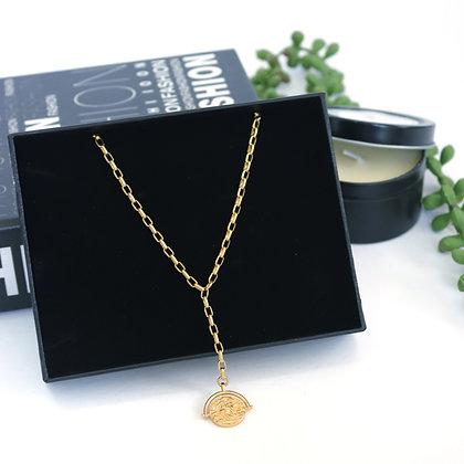 Rotem Brenner Jewelry | רותם ברנר | שרשרת שרלוט | שרשרת מטבע זהב