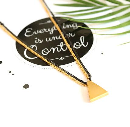 שרשרת שכבות זהב קצרה אלאניס | Rotem Brenner Jewelry Design | רותם ברנר