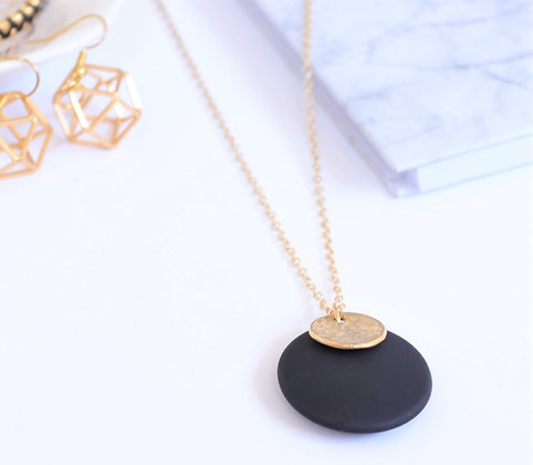 Rotem Brenner Jewelry | רותם ברנר | שרשרת אן | שרשרת שחורה ארוכה