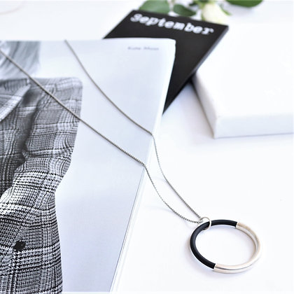 Rotem Brenner Jewelry | רותם ברנר | שרשרת גולדי | עיגול כסף