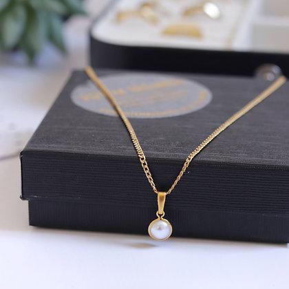 Rotem Brenner Jewelry | רותם ברנר | שרשרת אודרי | שרשרת פנינים