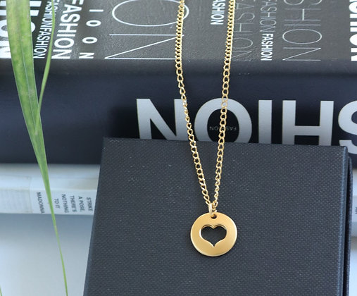 Rotem Brenner Jewelry | רותם ברנר | שרשרת סופי | שרשרת לב זהב קצרה