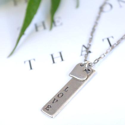 שרשרת איב | שרשרת כסף קצרה עם לב | Love | Rotem Brenner Jewelry Design