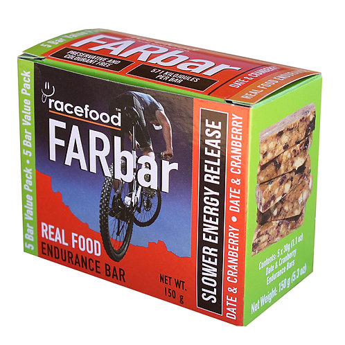 Race Food Far Bar Cranberry and Date