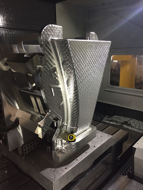 Partially Machined Aluminum Master Mold