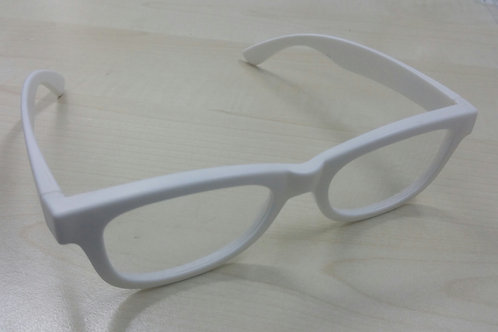 KUFSI | Heart Diffraction Glasses | white
