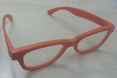 KUFSI | Heart Diffraction Glasses | orange