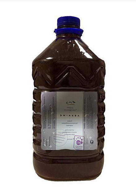 Аква ЭМ-1 (Aqua EM-1) микробиологический 1л и 10 л