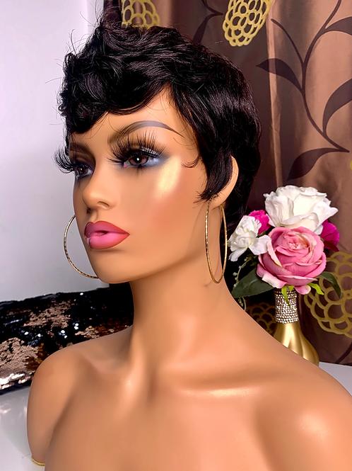 Short Pixie Cut  Wig - Black
