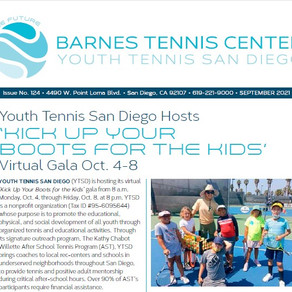 Please enjoy catching up on the happenings at the Barnes Tennis Center and Youth Tennis San Diego.