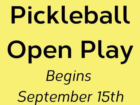 Pickleball Open Play