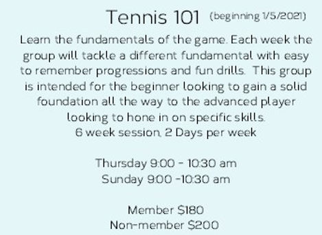 Adult Flyer 1.2021 Tennis101only for web