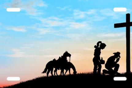 LP00727-Cowboy Cowgirl Praying