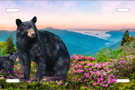 LP1017-Momma Bear with Cub Pink Flowers