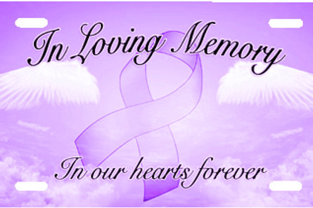LP00974-In Loving Memory Purple
