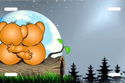 LP00928-Bear Couple Looking at the Moon