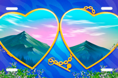 LP00809-Heart Locket and Key Mountains