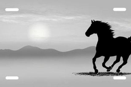 LP00318-Grey Running Horse