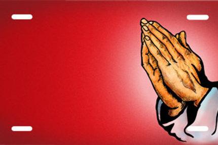 LP00680-Praying Hands on Red
