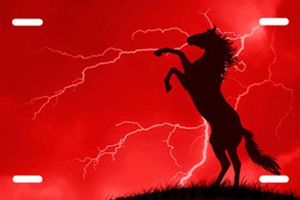 LP0039-Horse on Red Lightning
