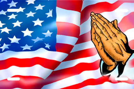 LP00689-American Flag with Praying Hands