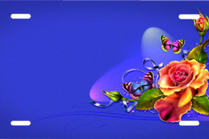 LP00791-Rose Butterfly on Blue