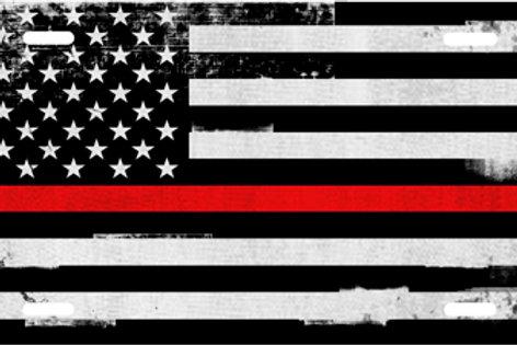 LP990RG-Grunge American Flag Red Stripe