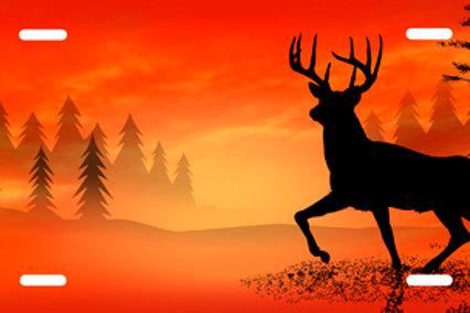 LP0037-Deer on Orange