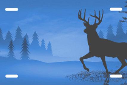 LP0036-Deer on Blue