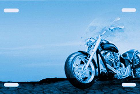 LP00256-Blue Motorcycle