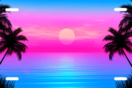 LP0012-Blue and Pink Beach