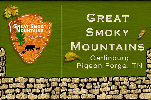 RM108-Great Smoky Mountains National Park Sign