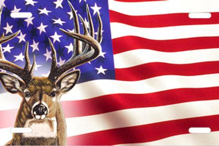 LP00964-Deer on American Flag