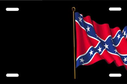 LP00252-Rebel Flag on Black