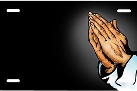 LP00933-Praying Hands on Black