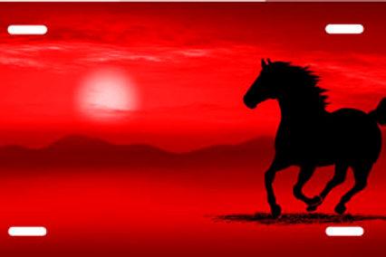 LP00317-Red Running Horse
