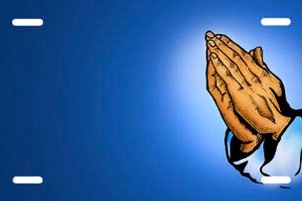 LP00190-Praying Hands on Blue