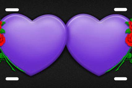 LP00451-Purple Hearts Roses