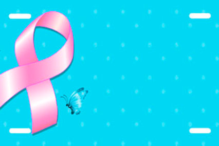 LP854-Pink Ribbon on Blue