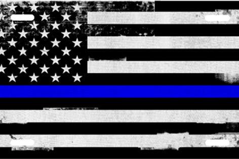 LP990BG-Grunge American Flag Blue Stripe