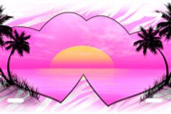 LP00296-Pink Beach Hearts