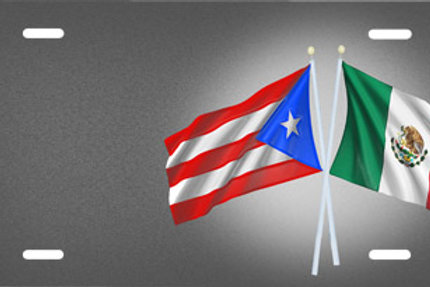 LP00690-Puerto Rican Mexican Flag