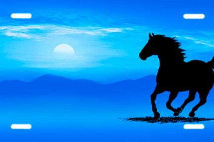 LP00316-Blue Running Horse