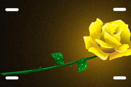 LP00135-Yellow Rose on Black