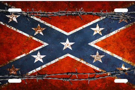 LP00975-Rebel Flag with Barbed Wire