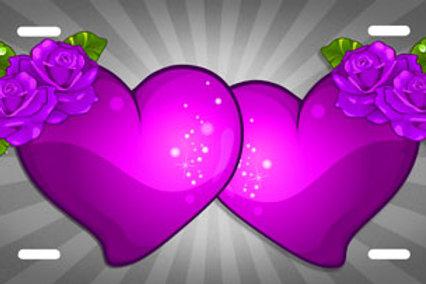 LP00851-Purple Hearts on Grey Burst