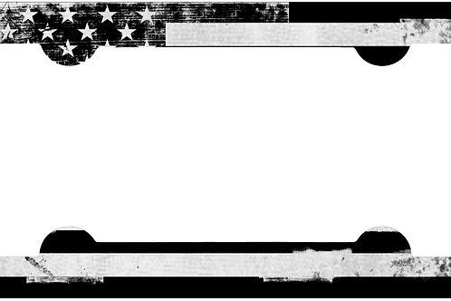 F110-Flag Blue Grunge Frame