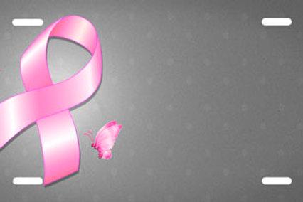 LP00865-Pink Ribbon on Grey