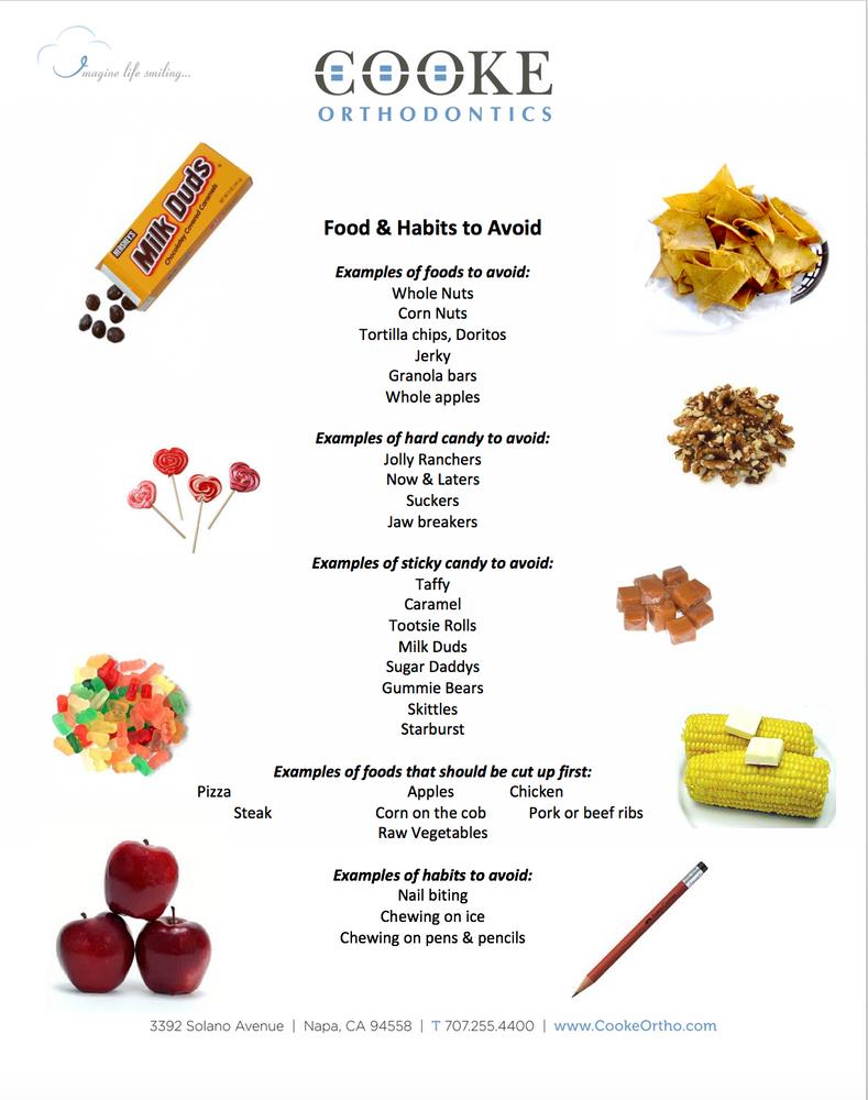 Let's Talk Braces - Foods & Habits to Avoid