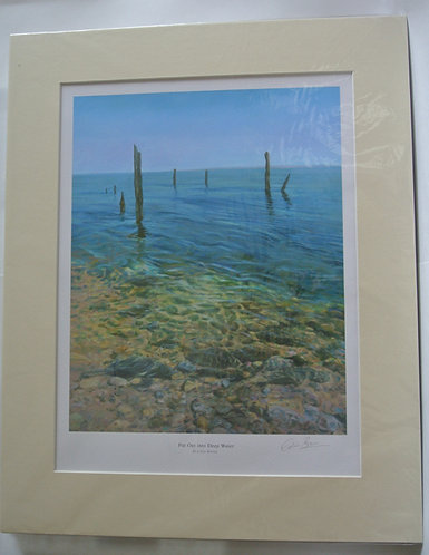 'Put out into Deep Water' 30x24in mounted print